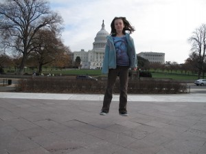 Libby at the Capital