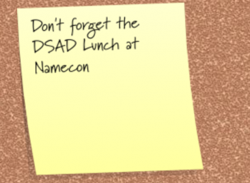 Come Join Us for the 2nd Annual DSAD NamesCon Lunch at Greenberg's Deli