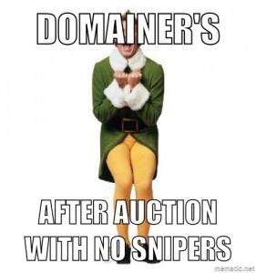 auction recap meme, no auction snipers