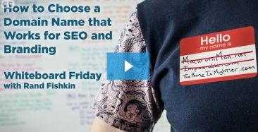 "Video: SEO Guru Rand Fishkin on Selecting a Domain Name: ""Bias to .com"", Keywords, Brandability, More"