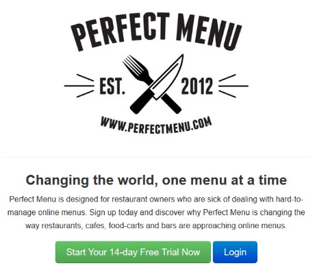 perfect menu