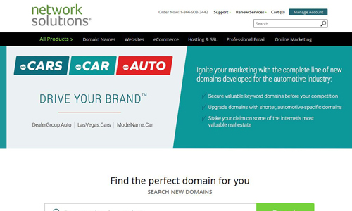 Network Solutions Cars